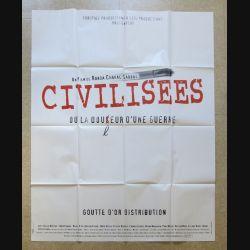 """AFFICHE FILM : affiche de cinéma du film """" Civilisées """" dimension 115 x 158 cm (E030)"""
