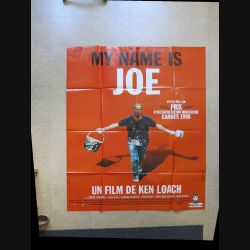 "AFFICHE FILM : affiche de cinéma du film "" My name is Joe "" dimension 115 x 158 cm (E030)"