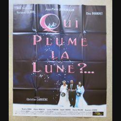 """AFFICHE FILM : affiche de cinéma du film """" Qui plume la lune """" dimension 115 x 158 cm (E030)"""