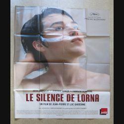 """AFFICHE FILM : affiche de cinéma du film """"Le silence de Lorna"""" 2008 dimension 115 x 158 cm (E030)"""