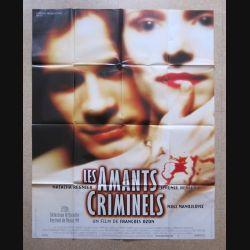 """AFFICHE FILM : affiche de cinéma du film """"Les amants criminels"""" 1999 dimension 115 x 158 cm (E032)"""