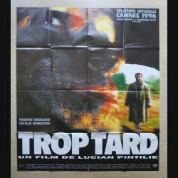 """AFFICHE FILM : affiche de cinéma du film """"Trop tard"""" 1997 dimension 115 x 158 cm (E032)"""