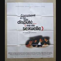 """AFFICHE FILM : affiche de cinéma du film """"Comment je me suis disputé"""" 1996 dimension 115 x 158 cm (E032)"""