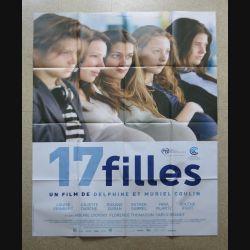 """AFFICHE FILM : affiche de cinéma du film """"17 filles"""" dimension 115 x 158 cm (E033)"""