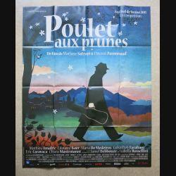 """AFFICHE FILM : affiche de cinéma du film """" Poulet aux prunes """" dimension 115 x 158 cm (E033)"""