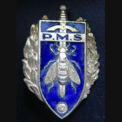 PMS : insigne du brevet de préparation militaire supérieure de fabrication Arthus Bertrand G. 1061 en émail
