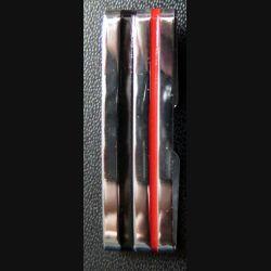 Galon métallique d'épaule de Major en métal épais argenté 4 cm de longueur