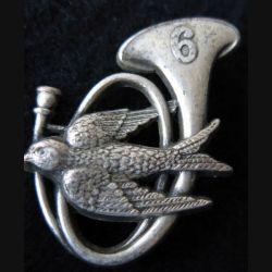 6° BCA : insigne métallique du 6° bataillon de chasseurs alpins de fabrication Drago Paris