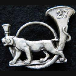 27° BCA : insigne métallique du 27° bataillon de chasseurs alpins Drago Paris