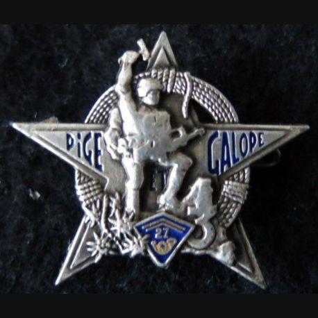 27° BCA : insigne métallique de la 3° Cie du 27° bataillon de chasseurs alpins Pichard