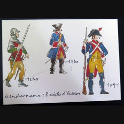 Carte double sur la gendarmerie 8 siècles d'histoire à travers les uniformes