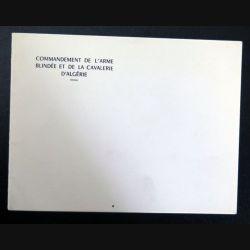 Carte double de voeux du commandement de l'arme blindée et de la cavalerie d'Algérie