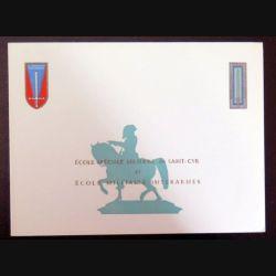 Carte double de voeux de l'ESM et de l'EMIA de Saint Cyr Coetquidan