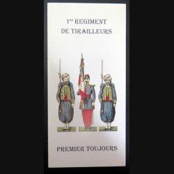 Carte double du 1° régiment de tirailleurs