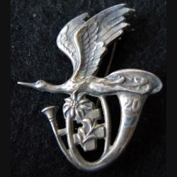 20° BCA : insigne métallique du 20° bataillon de chasseurs alpins de fabrication Drago Paris Nice