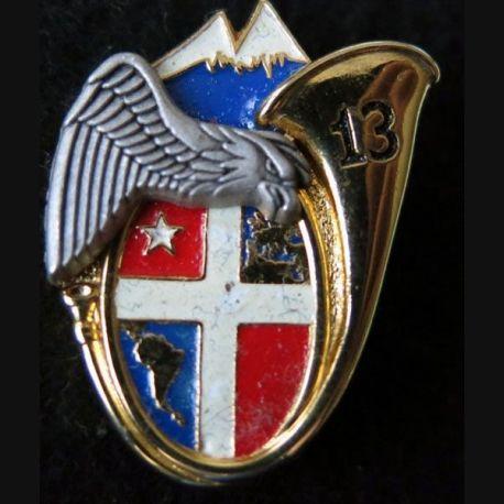 13° BCA : insigne de la 2° compagnie du 13° bataillon de chasseurs alpins peint de fabrication Boussemart 2005