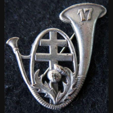 17° BCP : insigne métallique du 17° bataillon de chasseurs à pieds de fabrication non marquée