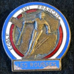 ESF : Médaille de moniteur de l'école du ski français des Rousses (Jura) de fabrication FIA Lyon