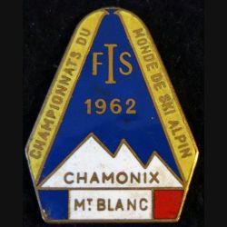 FIS 1962 : insigne métallique championnats du monde de ski alpin  fabrication Augis Lyon