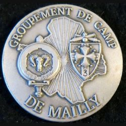 GC MAILLY : plaque du groupement de camp de Mailly fabrication GLF 40 mm