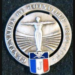 BJ : insigne métallique du centenaire du bataillon de Joinville 1852-1952 en émail