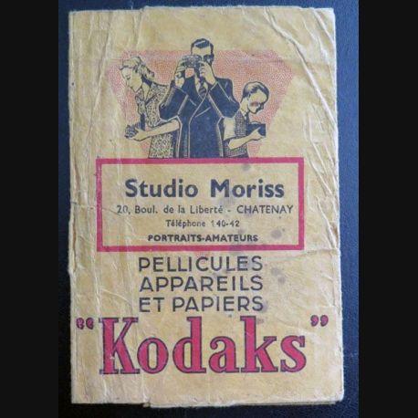 Pochette des studios Moriss pour pellicules Kodaks 9 x 13 cm