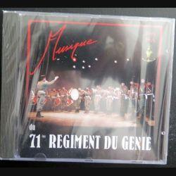 DISQUE CD : dernière  Musique du 71° régiment du génie de Oissel Normandie avant dissolution (C201)