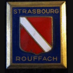 ÉCOLE STRASBOURG ROUFFACH : insigne métallique de l'école militaire de Strasbourg Rouffach de fabrication Drago G. 436 émail
