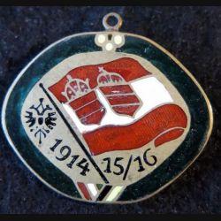 AUTRICHE HONGRIE  : broche en émail grand feu d'Autriche-Hongrie  1914 - 15/16