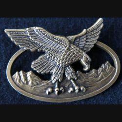BAM BSM : insigne métallique du brevet d'aptitude des troupes de montagne de fabrication Boussemart GS. 136 bronze