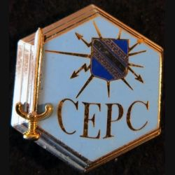 CEPC : Insigne métallique centre Entraînement postes de commandement A. Bertrand G. 4275