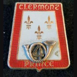 4° RCH : insigne métallique du 4° régiment de chasseurs de fabrication Delsart G. 2114