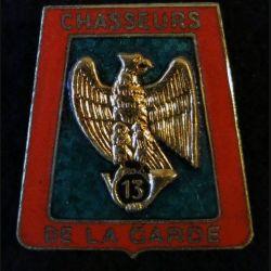 13° RCH : 13° régiment de chasseurs de fabrication non marquée G. 2252 en émail