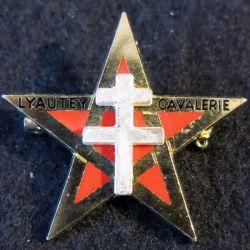 1° RSM : insigne métallique du 1° régiment de spahis marocains de fabrication Drago G. 1827
