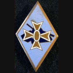 1° DB : insigne métallique de la 1° division blindée de fabrication Drago Béranger en émail
