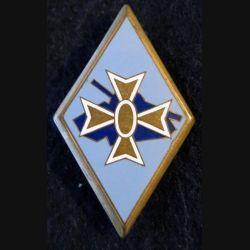 1° DB : insigne métallique de la 1° division blindée de fabrication Drago Paris H. 107 en émail