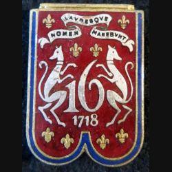 16° RD : 16° régiment de dragons de fabrication Drago Paris en émail