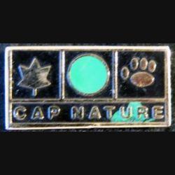 Pin's métallique peint  Cap Nature de 12 x 25 mm