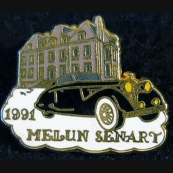 MELIN SENART : pin's de Melun Senart 1991 de fabrication Ballard doré or fin