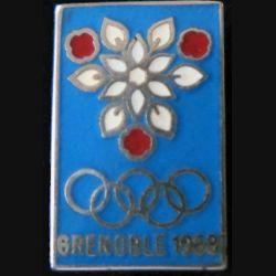JO GRENOBLE : pin's des jeux olympiques de 1968 de fabrication Arthus Bertrand Paris déposé