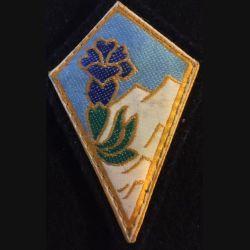 27° DA : insigne tissu de la 27° division alpine sur scratch et tissu noir