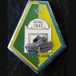 8° GCM : insigne métallique de la 3° compagnie du 8° groupe de chasseurs mécanisés Y. Delsart