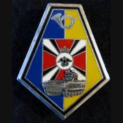 1° GC : insigne métallique de la 4° compagnie du 1° groupe de chasseurs Y. Delsart Matriculé N° 671
