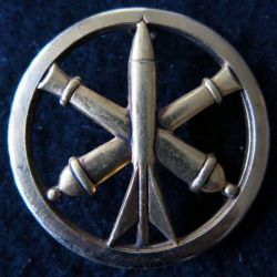 INSIGNE DE BÉRET : insigne béret de l'Artillerie de fabrication Beraudy-Vaure