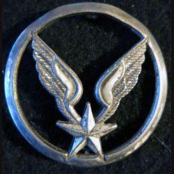 INSIGNE DE BÉRET : insigne de béret de l'aviation légère de l'armée de terre ALAT Béraudy-Vaure argenté