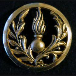 INSIGNE DE BÉRET : insigne de béret de l'Intendance et du commissariat doré de fabrication Beraudy-Vaure