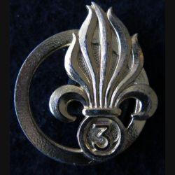 INSIGNE DE BÉRET 3° REI : insigne de béret du 3° régiment étranger d'infanterie de fabrication Drago Paris