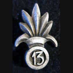 INSIGNE DE BÉRET 13° DBLE : insigne de béret de la 13° demi brigade de la  légion étrangère de fabrication Drago retirage R77