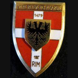1° RIM : 1° régiment d'infanterie motorisé de fabrication Arthus Bertrand Paris émail de 1964