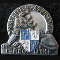 1° RI : 1° régiment d'infanterie fabrication non mentionnée peint de 1945
